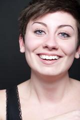 Lisa (Arpad Anderegg) Tags: portrait people woman girl studio nikon laugh frau lachen d3 mensch studiofotografie