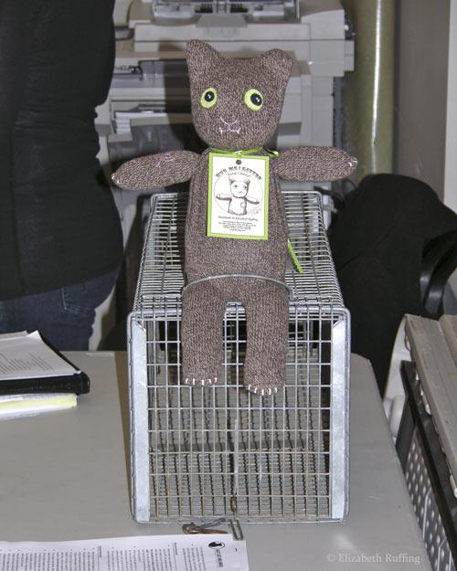 Feral Cheryl the TNR Demo Sock Cat by Elizabeth Ruffing