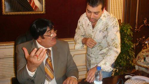 جواد الشكرجي وحريق في مسرحية مطر يمة -----اذاعة العراق الحر