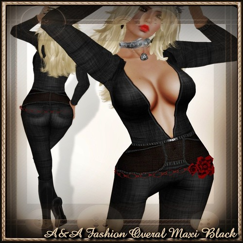 A&A Fashion Overal Maxi Black
