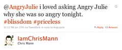 Chris Mann Tweet