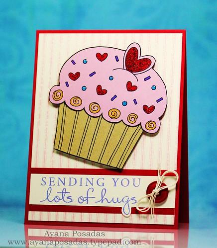 CupCake- Sending You Lots of Hugs (2)