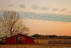 Barn (skippys1229) Tags: trees clouds barn rural sunrise canon dawn farm 1855mm marioncounty ocalafl ocalaflorida rebelt1i canonrebelt1i foreranch westocala