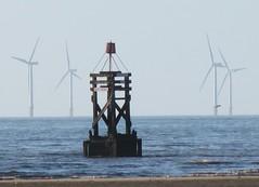 Crosby,Merseyside. (Radarsmum67) Tags: uk sea heritage coast seaside britain maritime tradition bathing windfarm crosby sefton buoyant