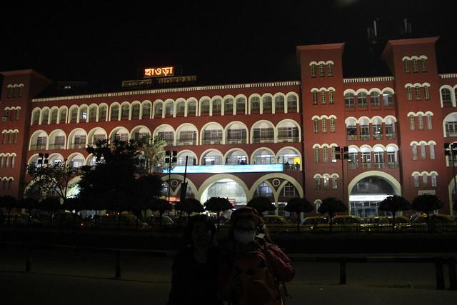 Kolkata的Howrah火車站外觀