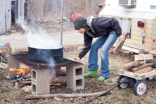 45/365 Boiling sap