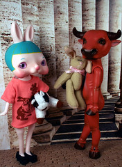 Julep and the Minotaur (bentwhisker) Tags: rabbit bunny toys dolls chinese korea ox bjd resin anthro yearoftheox resinsoul tokissi tokissimint
