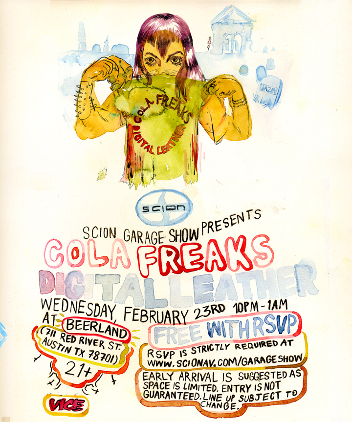 2011/01/26 Scion Garage Presents: Cola Freaks and Digital Leather