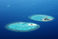 Twin island (m o d e) Tags: travel blue summer vacation holiday beach nature water beauty island photography asia with shot natural crystal south twin scene lagoon tourist aerial resort clear most destination waters popular resorts mode geotag ari atoll located mashafeeg geotagmaldives