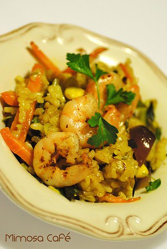 karidesli pilav - prawn fried rice