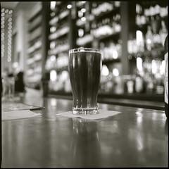 . (Ansel Olson) Tags: 120 6x6 mamiya tlr film beer glass mediumformat restaurant virginia dof bokeh delta richmond cancan pint 3200 ilford rva c330 grandillumination c330s mamiyasekor80mmf28 williamsburgalewerks