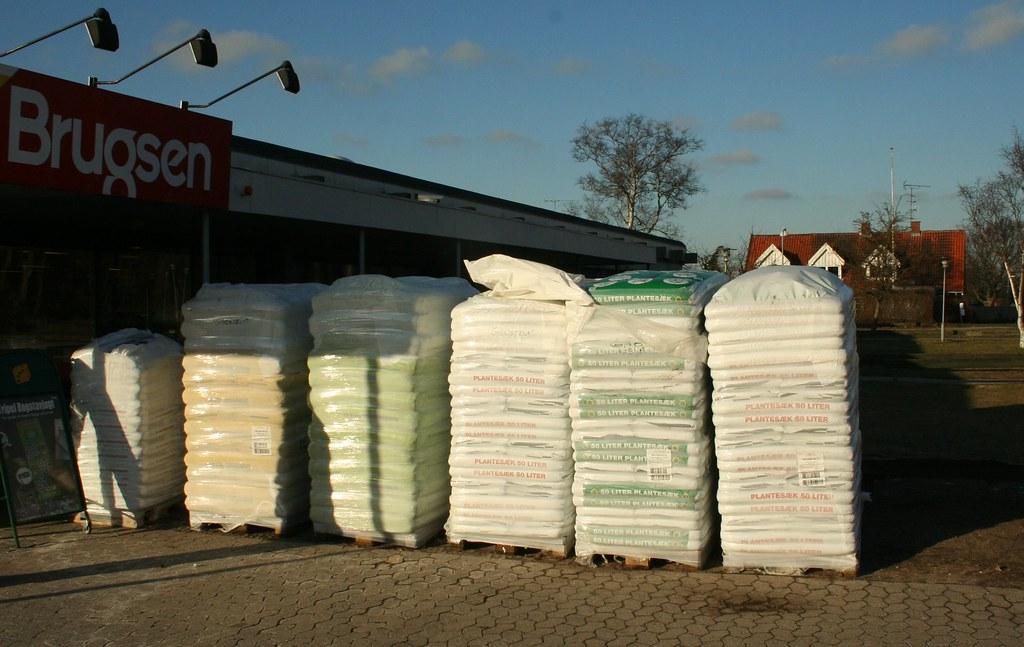 Soil in bags