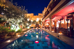 La Maison Arabe (TGKW) Tags: trees sky food plants pool stars restaurant hotel candles place terrace decorative plush arabe lanterns marrakech maison luxury starry 3008