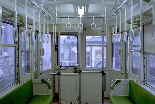 玉電 東急デハ60型 車内