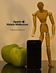 Apple .. Think Different !! - W[2] (Mohammad Rehawi | Evil Hard) Tags: life green apple still different think iphone iphone4