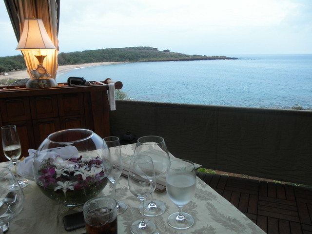 Dinner overlooking Hulopoe Bay
