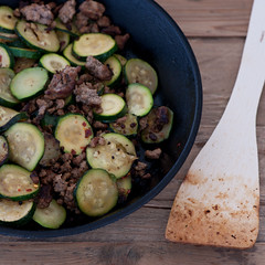 buttery zucchini & ground beef