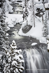 Kepler Cascades in Winter (Free Roaming Photography) Tags: winter usa snow motion blur mountains cold ice water weather creek river season frozen waterfall nationalpark oldfaithful freezing falls freeze cascades yellowstonenationalpark northamerica yellowstone wyoming cascade firehole fireholeriver keplercascades