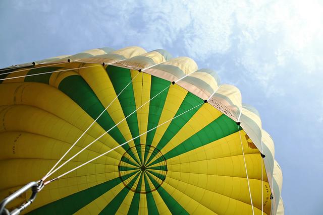 エジプト旅行 気球と青空