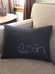 Iron Craft Challenge #8 - Minneapolis Skyline Pillow