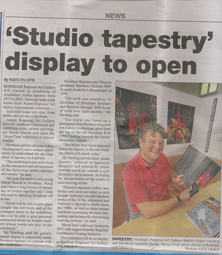 Horsham tapestry article