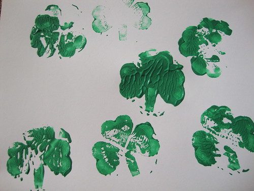 stamped shamrocks