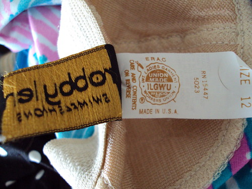 Union-made Tag for Crazy Swimsuit