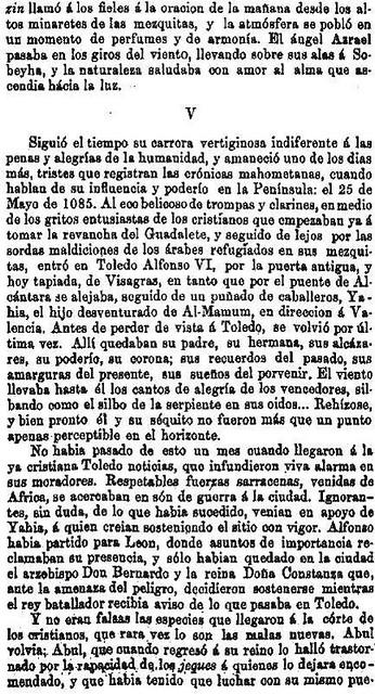 Leyenda de La Peña del Moro publicada en La Amérca por Eugenio de Olavarria y Huarte. Página 16