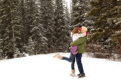 Everything will fall in to place (shicoles) Tags: trees winter boy snow canada cold color cute love girl d50 outside hugging holding nikon hug kiss kissing couple boots canadian relationship uggs
