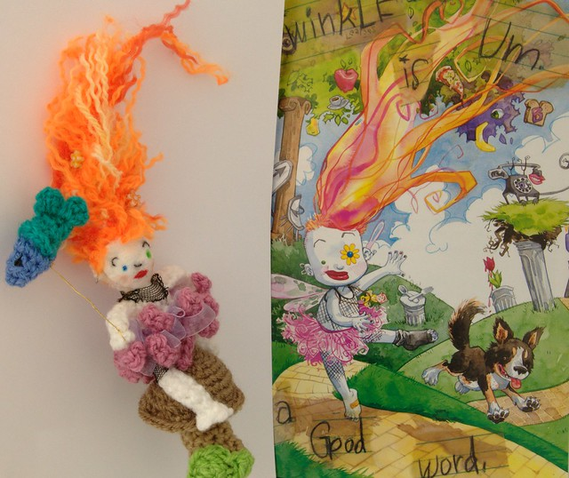Pequeña Delirio, amigurumi, the little Endles storybook.