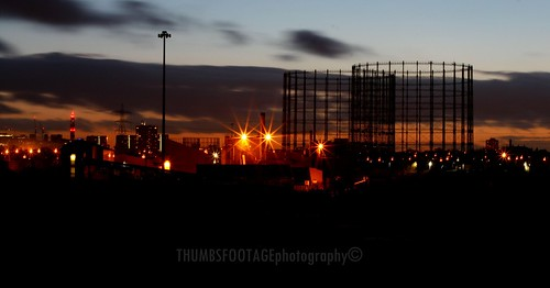 Gas works and lights - Birmimgham