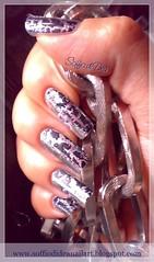 """Argento Blu"" Nail Art"
