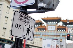Diagonal Crossing (inetnasshadow) Tags: city morning winter urban dc chintown