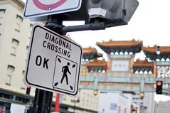 Diagonal Crossing (inetnasshadow) Tags: city morning winter urban dc chintown