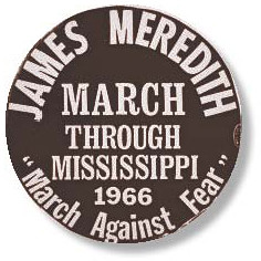 March Against Fear 1966 button image