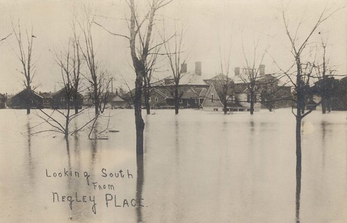 Looking South from Negley Place, Dayton, OH - 1913 Flood
