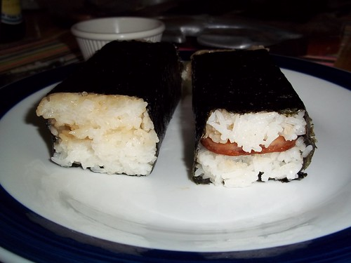 Spam musubi ready for munching