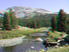 3D Pictures From Central California Trip (Redbeard Math Pirate) Tags: trees mountains forest river nationalpark stereoscopic 3d stream anaglyph stereo yosemite yosemitenationalpark redblue anaglyphic threedimensional tiogaroad redcyan