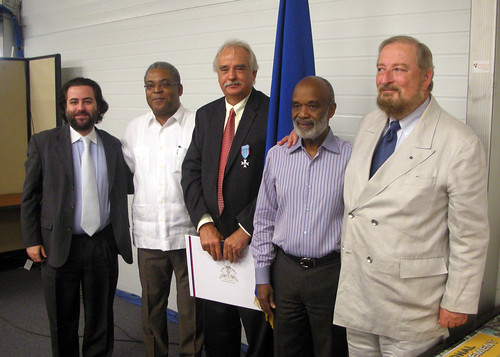 Former OAS Representative in Haiti Receives Honor from Haitian Government