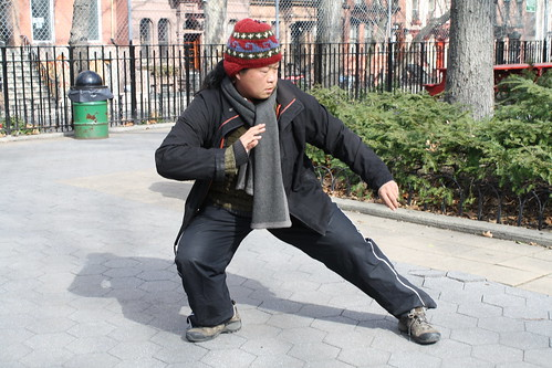 Jeanette Chi does Tai Chi in the Park
