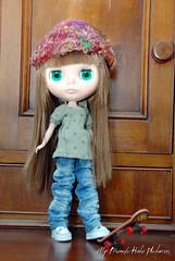 Calleigh and her skateboard