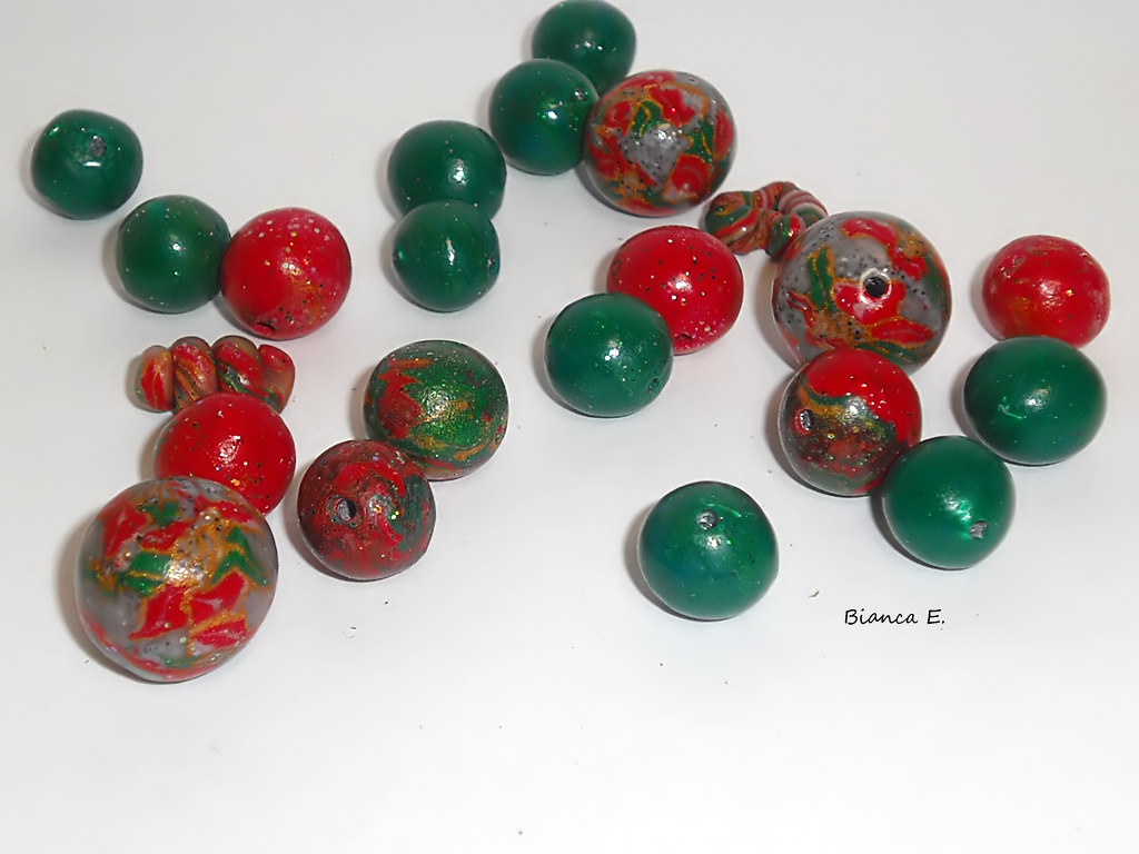 CIMG7080 (n8eulchen) Tags: Weihnachten Necklace Beads Handmade Polymerclay  Fimo Clay Jewelery Schmuck Perle