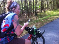 Carol Texting and Riding