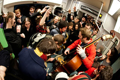 Light Rail/Dark Rail Concert (Stephen De Vight) Tags: seattle music concert livemusic band link lightrail soundtransit hollowearthradio magmafestival