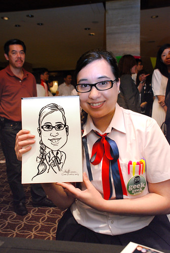 Caricature live sketching for Swire Pacific Offshore & The China Navigation Company Pte Ltd Annual D&D - 2