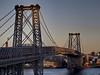 Williamsburg Bridge at Sundown (Joel Raskin) Tags: nyc newyorkcity brooklyn lowereastside bridges eastriver williamsburg hdr williamsburgbridge canong12