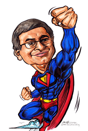 Superman caricature for Unilever
