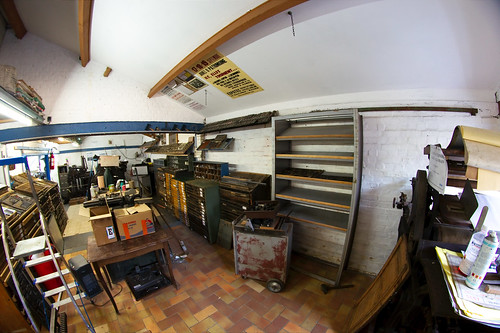 Organisation de l'atelier typographique