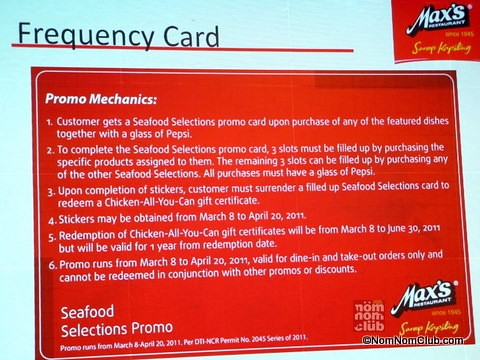 Frequency Card Promotion Mechanics