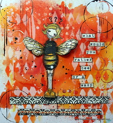 Art Journal - What would you rather bee.... (thekathrynwheel) Tags: wasp bee artjournal journaling stampotique